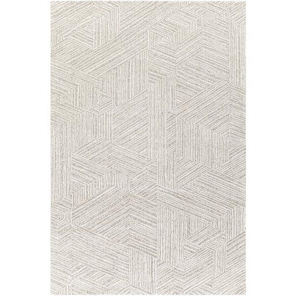 Brayden Studio Jacquelin Geometric Taupe Ivory Area Rug Wayfair