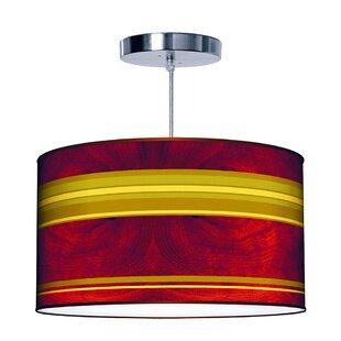 Jef Designs Organic Modern Stripey Horizontal Pendant