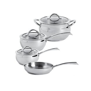 Derrick 7 Piece Stainless Steel Cookware Set