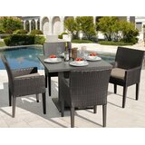 Tegan 5 Piece Dining Set with Cushions