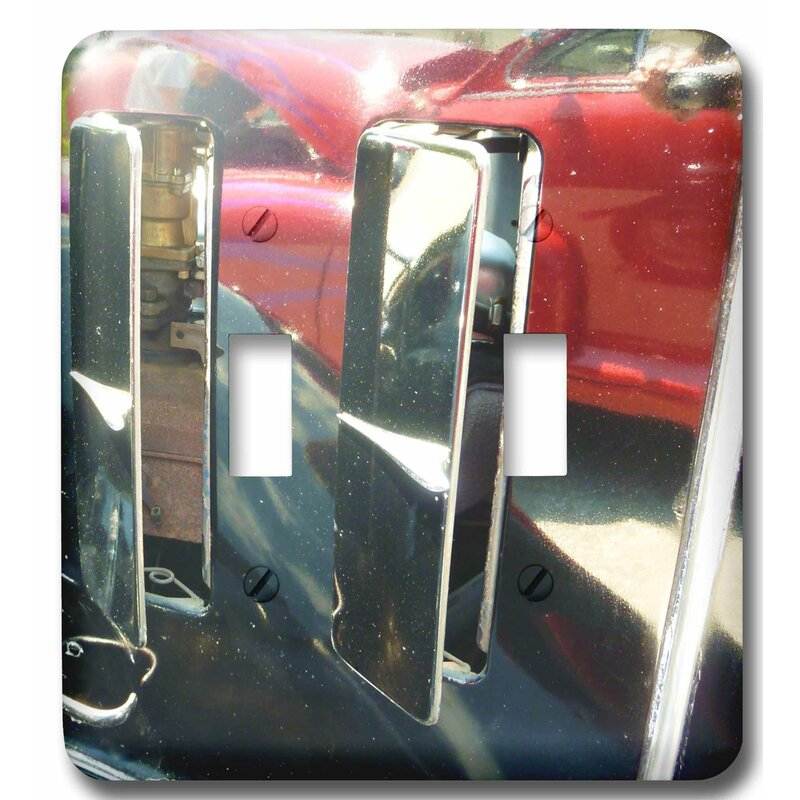 3drose Abstract View Of Fifties Hot Rod 2 Gang Toggle Light Switch Wall Plate Wayfair