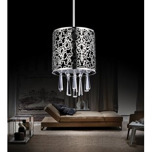 1-Light Drum Pendant by CW..
