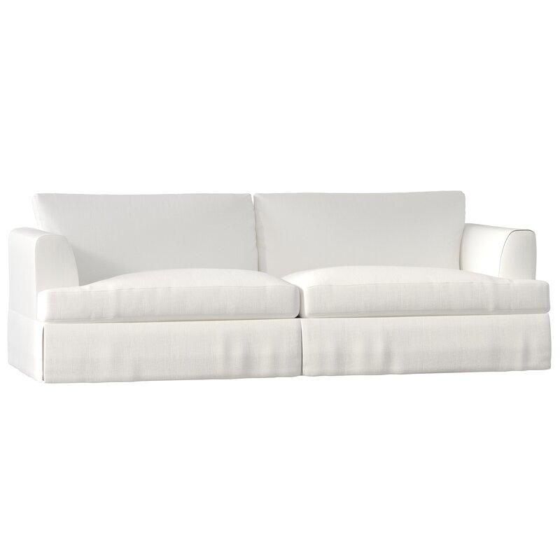 Clausen white cotton 2-cushion sofa #whitesofa #beachy #shabbychic