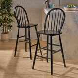 Abaokoro Traditional Rubberwood 29 Bar Stool (Set of 2) by Alcott Hill®