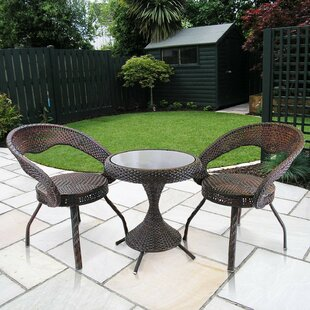 Bay Isle Home Bertie 3 Piece Bistro Set