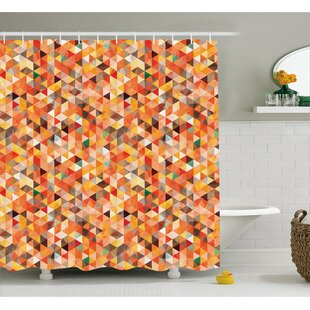 Carver Abstract Vibrant Motif Shower Curtain ByGeorge Oliver