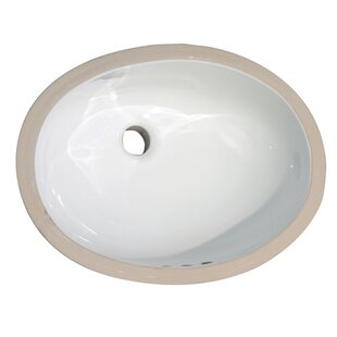 Best Price Rosa 500 Vitreous China Oval Undermount Bathroom Sink with Overflow By Barclay