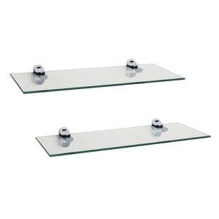 Best Reviews Troian Rectangle Glass Floating Shelf (Set of 2) ByZipcode Design