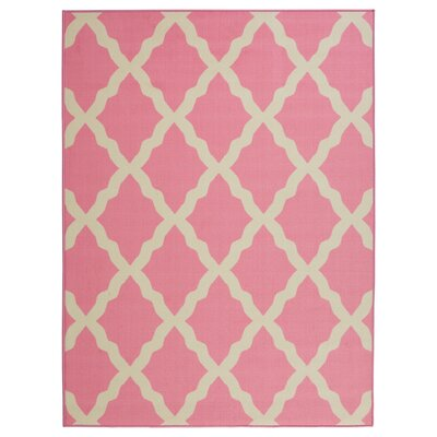 Staunton Contemporary Pink Morroccan Trellis Area Rug Charlton Home
