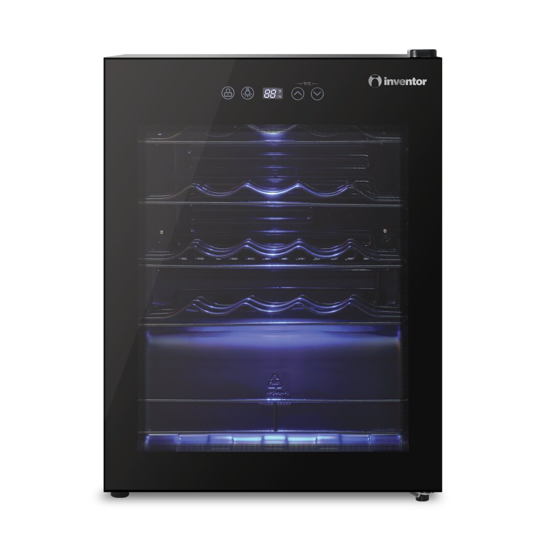 Inventor Vino Wine Cooler 66L with Glass Door and Dual-Zone