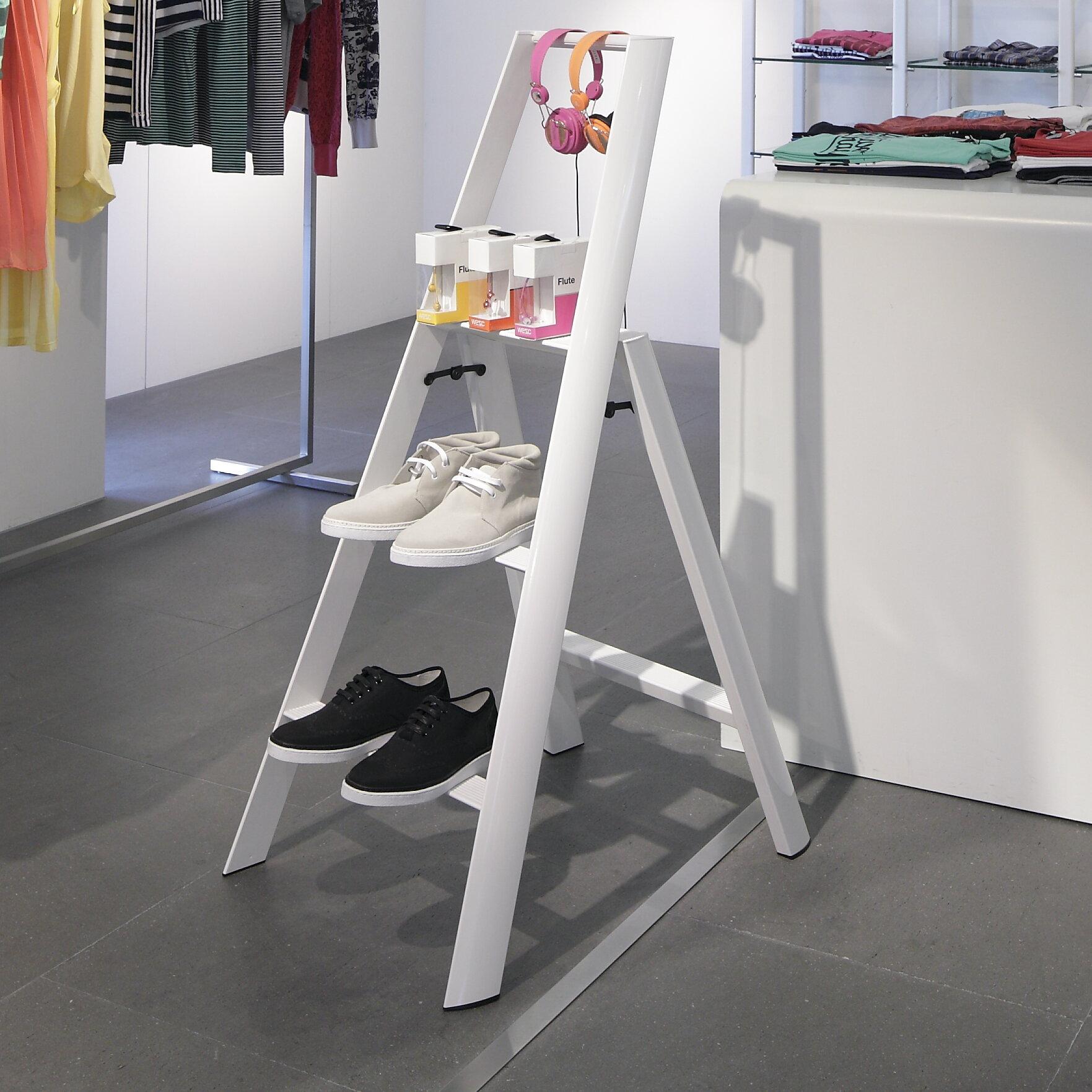 Magnificent 3 Step Aluminum Step Stool With 250 Lb Load Capacity Creativecarmelina Interior Chair Design Creativecarmelinacom