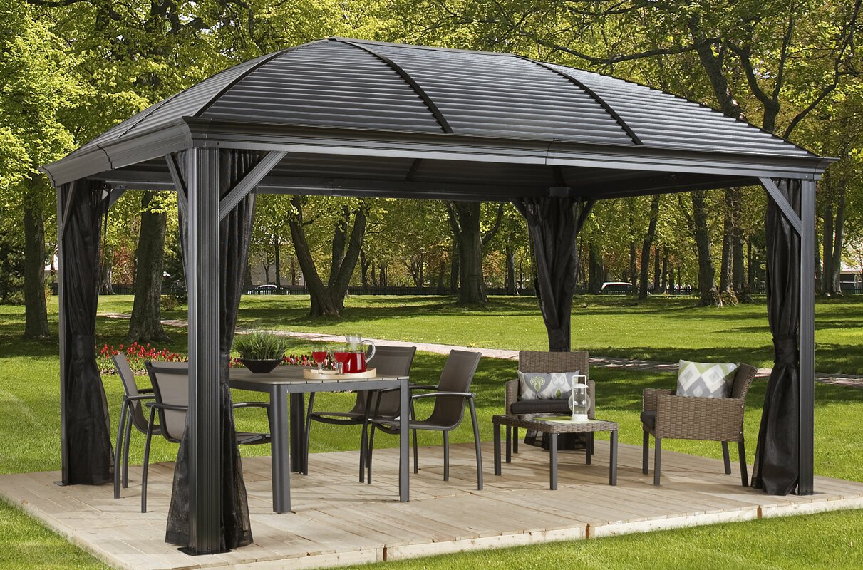 Sojag Moreno Aluminum Patio Gazebo Amp Reviews Wayfair
