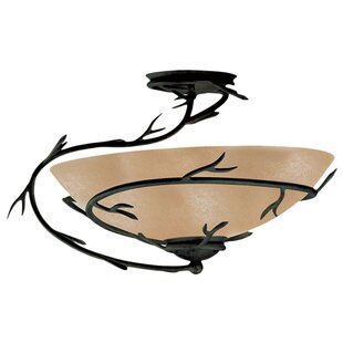 Easton Semi Flush Mount or Ceiling Fan Light by Loon Peak