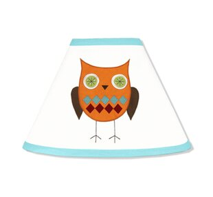 Hooty Turquoise and Lime 7 Empire Lamp Shade