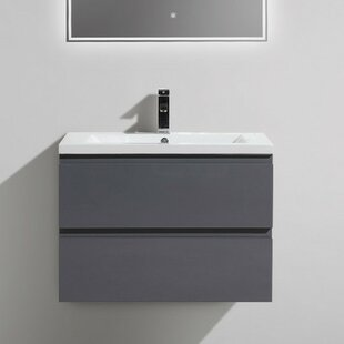 Lina 30 Wall Mounted Single Bathroom Vanity Set