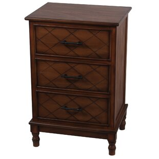 Brookes 3 Drawer End Table by Alcott Hill