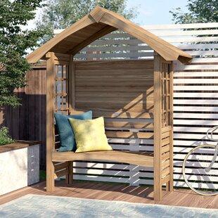 Edenbridge Wooden Arbour By Sol 72 Outdoor