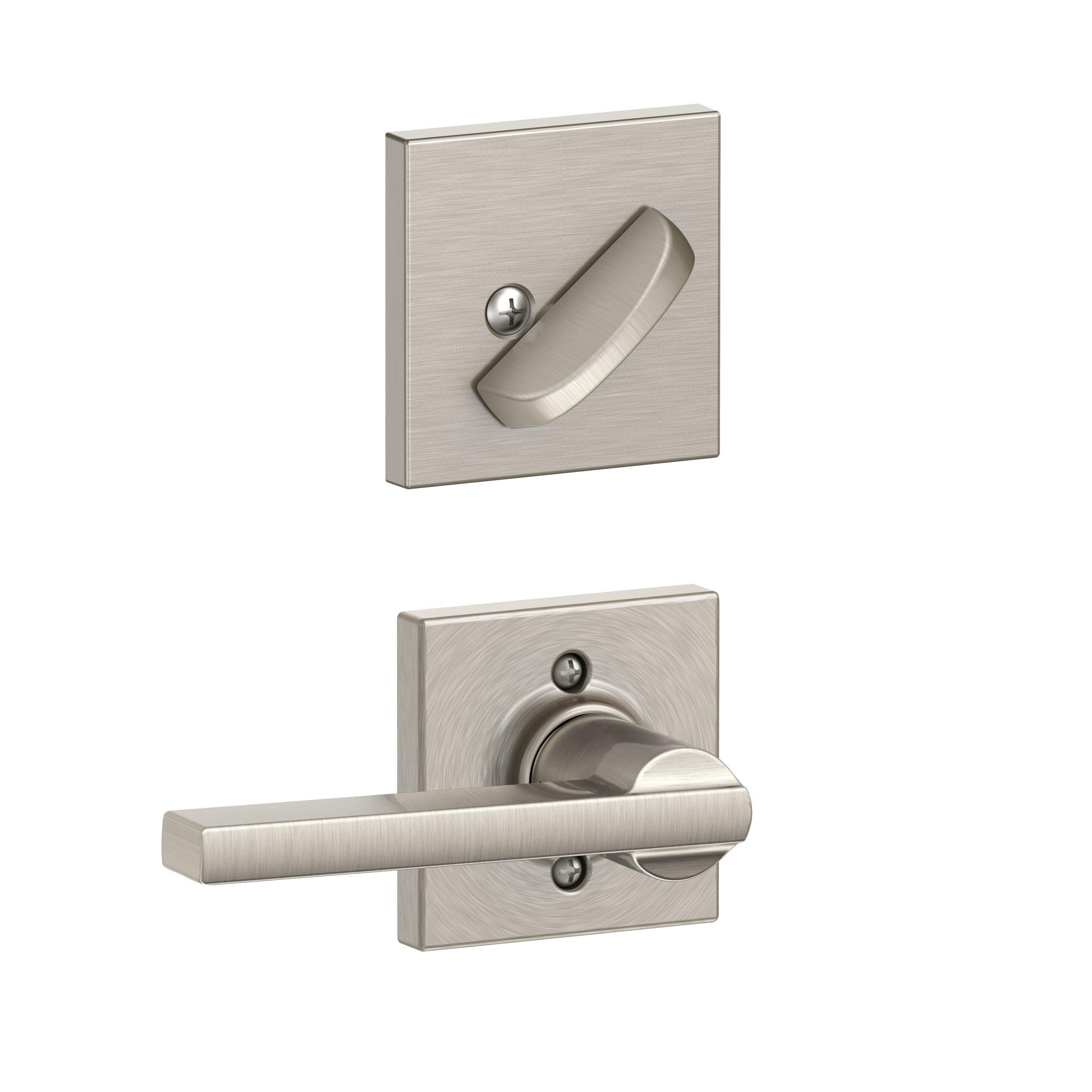 Schlage Latitude Single Cylinder Interior Lever Set Exterior Portion Sold Separately Wayfair