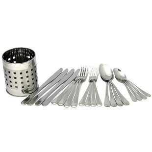 Ratley Silverware 21 Piece Stainless Steel Flatware Set, Service For 4 by Winston Porter Discount