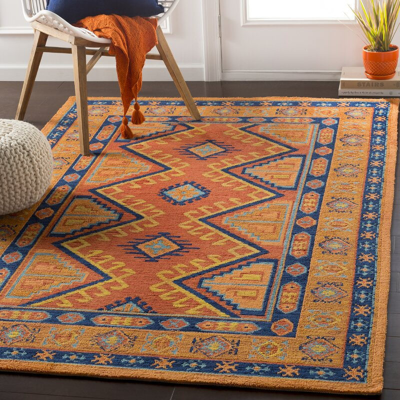 Robbins Terracotta Burnt Orange Area Rug Amp Reviews