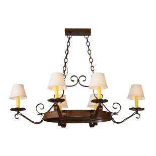 Meyda Tiffany Greenbriar Oak 6-Light Shaded Chandelier