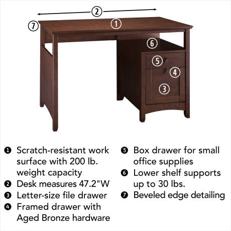 Josepha 2 Drawer Writing Desk