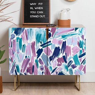 Ninola Artsy Brush Strokes Sideboard by East Urban Home