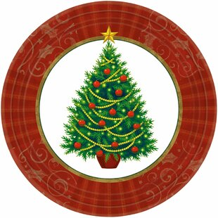 Christmas Twinkling Tree Paper Appetizer Plate (Set of 200)