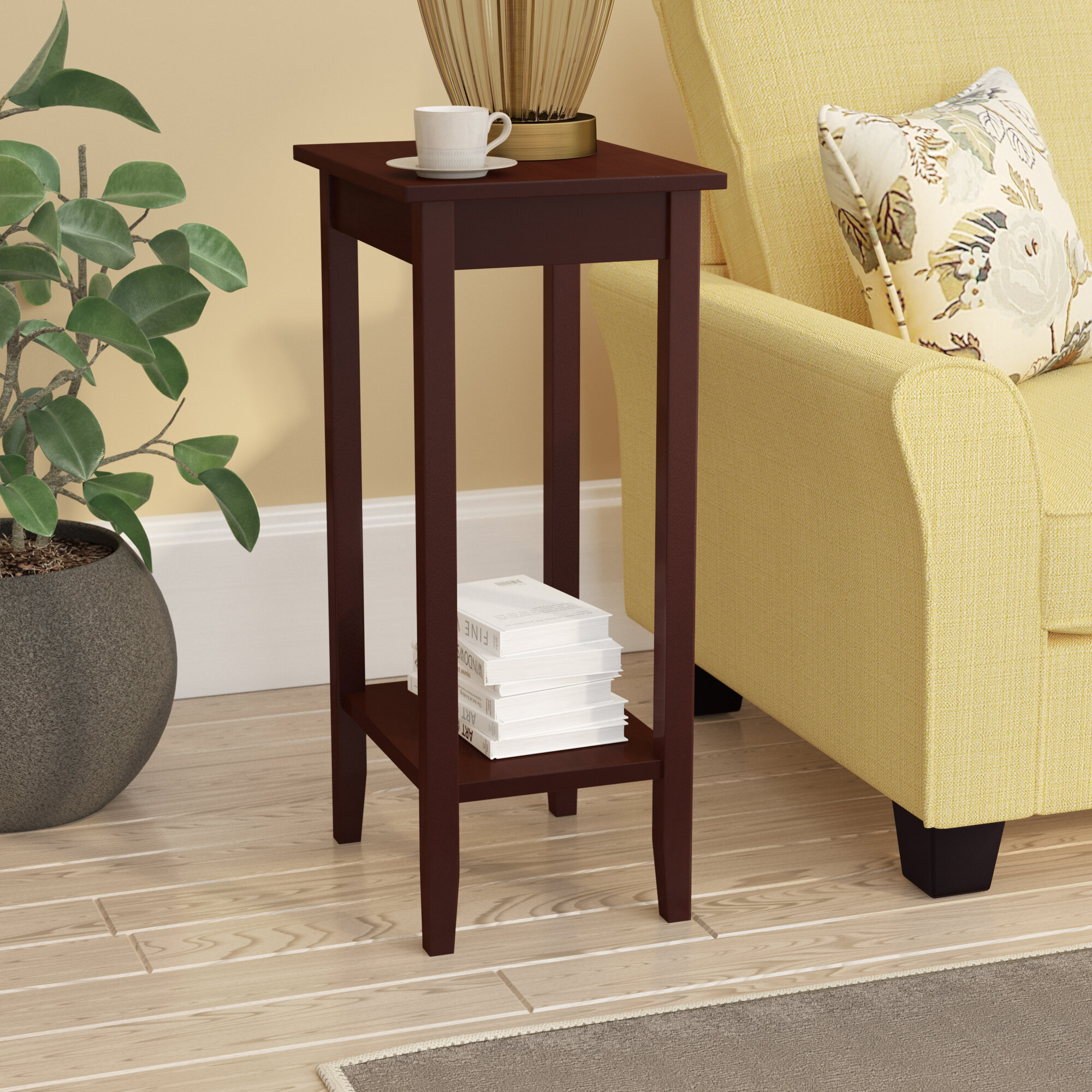 Winston porter noble rosewood tall end table reviews wayfair