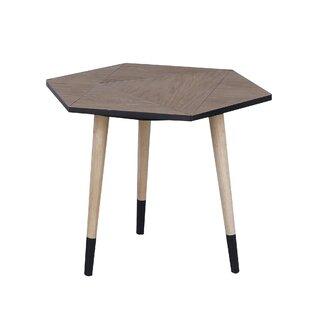 Ivy Bronx Bruner Wooden End Table