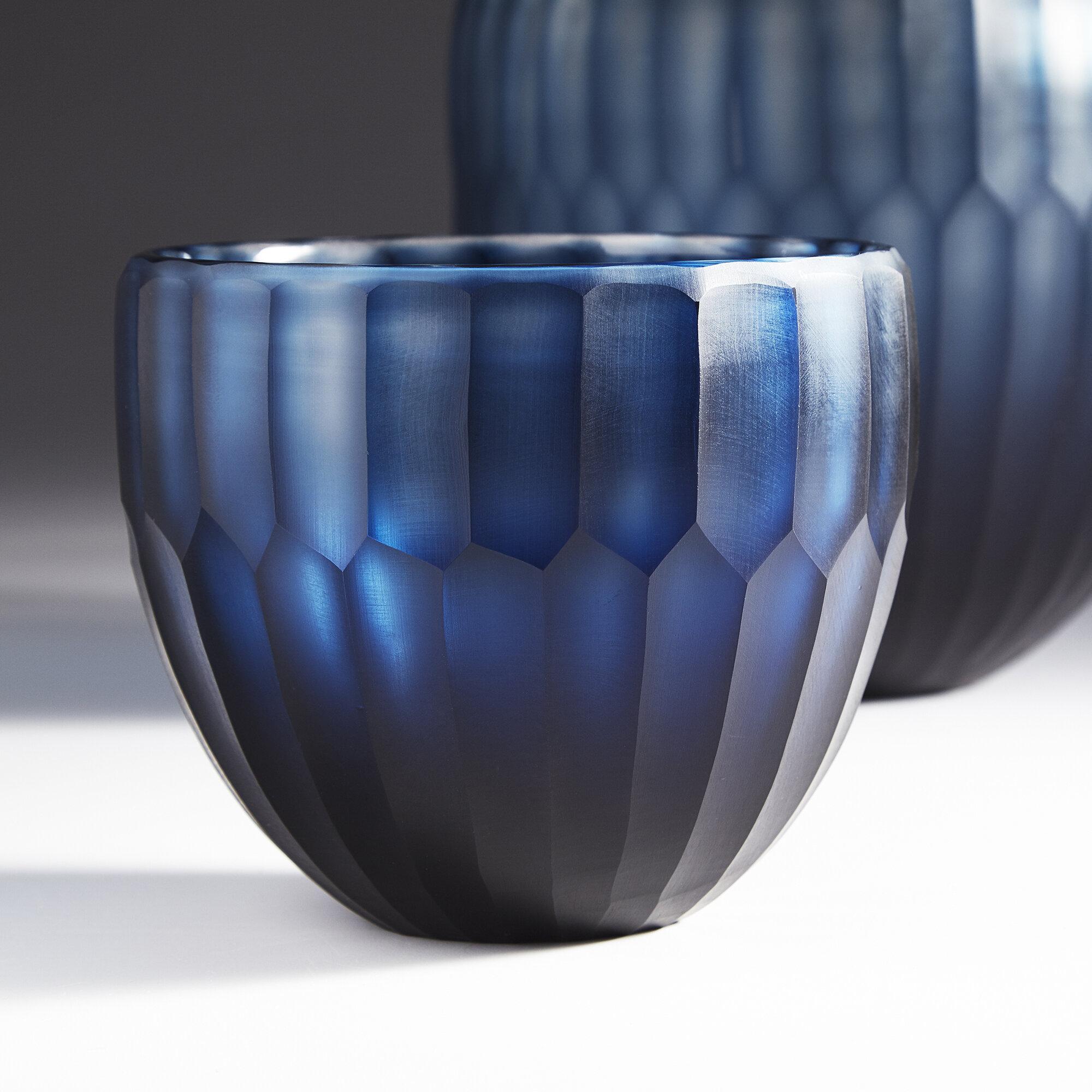 Cyan Design Tulip Glass Contemporary Decorative Bowl In Blue Reviews Wayfair