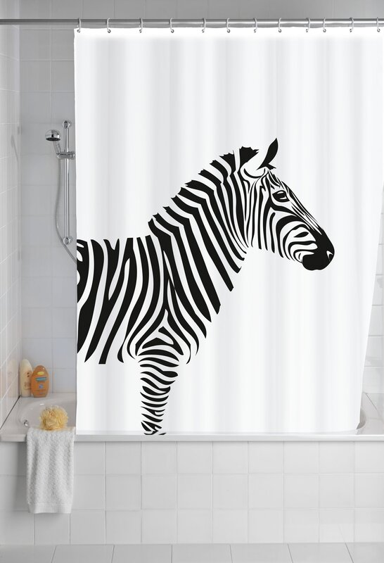Wenko Zebra Anti Mould Shower Curtain & Reviews | Wayfair.co.uk