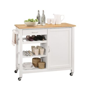 Langston Kitchen Island with MDF Top by Rebrilliant
