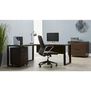 Ebern Designs Albin 4 Piece L-shaped Desk Office Suite