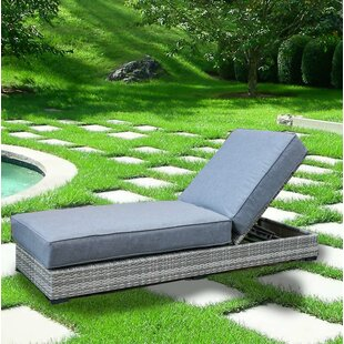 Ewing Reclining Chaise Lounge with Cushion by Rosecliff Heights