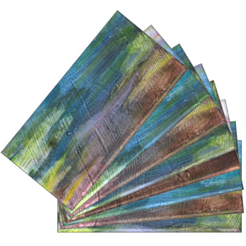 "SkinnyTile 6"" x 3"" Glass Peel and Stick Subway Tile"
