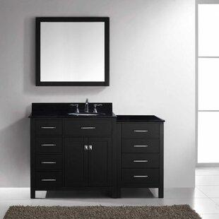 Savitsky 55 Single Bathroom Vanity Set with Mirror by Latitude Run