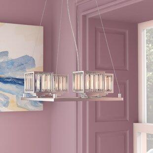 Eriq 4-Light Shaded Chandelier by Willa Arlo Interiors