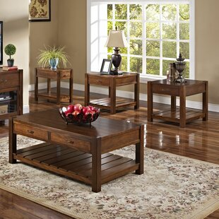 Low priced Clearview 3 Piece Coffee Table Set By Loon Peak