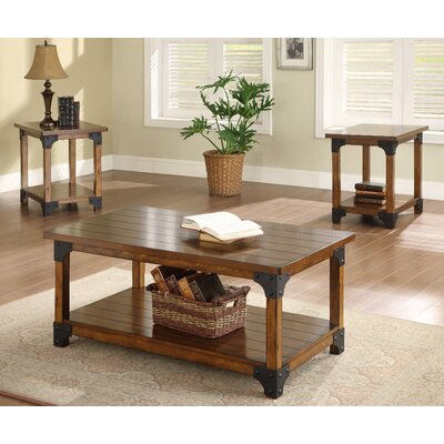 William 3 Piece Coffee Table Set  sc 1 st  Wayfair & Loon Peak Carlos 3 Piece Coffee Table Set u0026 Reviews | Wayfair