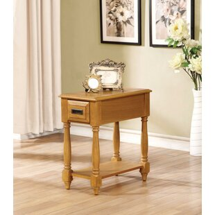 Hulda End Table with Storage by August Grove