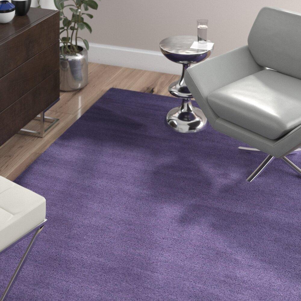 Ebern Designs Frann Dark Purple Area Rug Reviews Wayfair