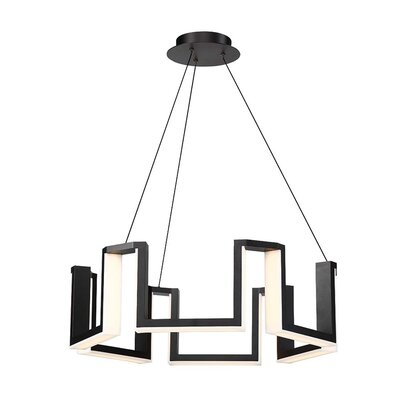 Modern Forms Gotham Light Unique Statement Geometric Chandelier Chandeliers