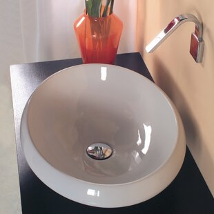 Price comparison Ceramica Ceramic Oval Vessel Bathroom Sink By WS Bath Collections