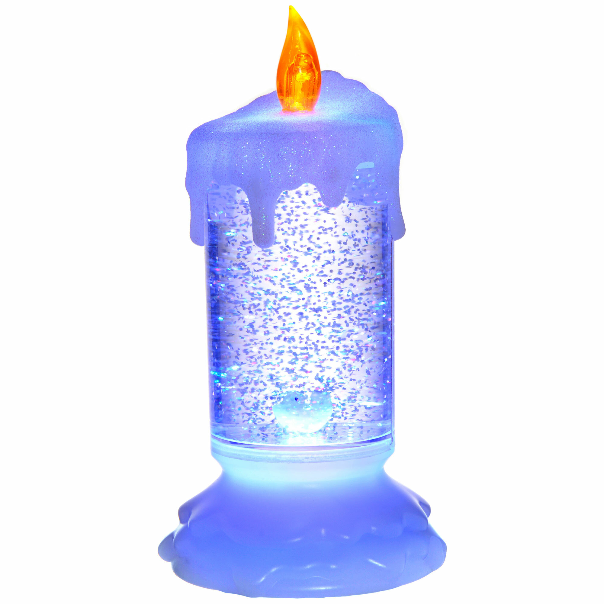 The Seasonal Aisle Pre Lit LED Magical Colour Changing Floating Glitter Candle Lamp