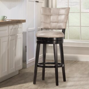 Leonore 26 Swivel Bar Stool Red Barrel Studio