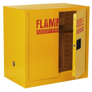 35 H x 35 W x 22 D Compact Flammable Safety Storage Cabinet by Sandusky Cabinets