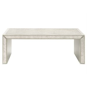 Alexandria Antiqued Mirrored Coffee Table by House of Hampton