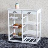 Boscawen Kitchen Cart with Tile Top by Rosecliff Heights