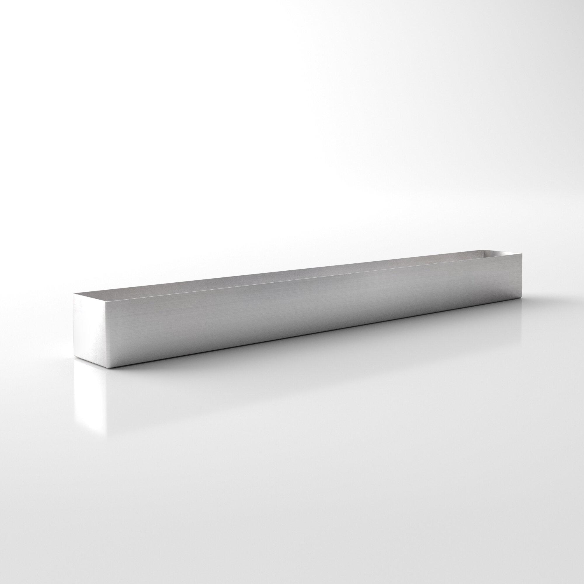 Geo stainless metal planter box allmodern